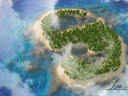 用C4D制作属于自己的岛屿吧!(内含傻瓜教程)