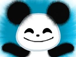 开心熊猫水墨表情