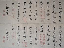 凇菱书章草-李太白《庐山谣》寄卢侍御虚舟诗句4