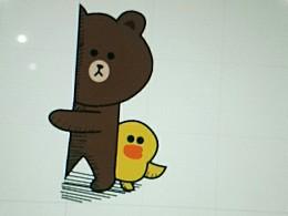 随手勾了个布朗熊~