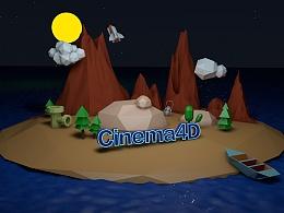 C4D练习-岛屿