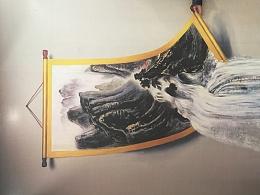 北京3D立体画作品之【高山流水】3D墙地结合