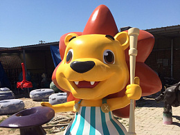 北京儿童乐园成长湾小狮子雕塑制作过程