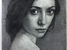 素描人像 美女肖像