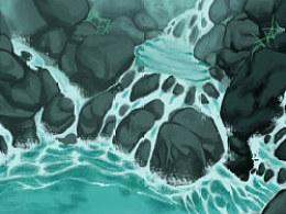 石头间的水花