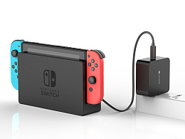 Switch type-c PD充电器亚马逊效果图制作