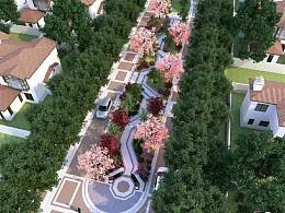别墅区景观效果图