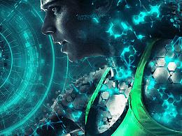 科幻人物刻画图像处理特效PS动作