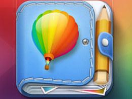 旅行图片笔记app Icon设计