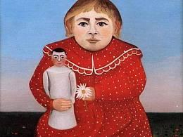 Henri Rousseau·《拿玩具娃娃的孩子》