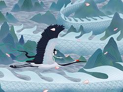 《中国神怪》 系列插画作品#青春答卷2017#