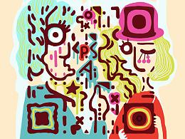 抽象艺术二维码