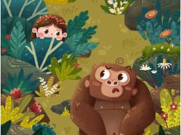 小女孩与大猩猩
