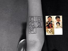 简约人物动物照片线条风格纹身.宝鸡纹身佳佳刺青