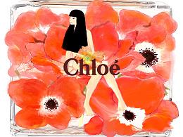 |chloe香水手绘|