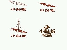 小舢板大排档logo