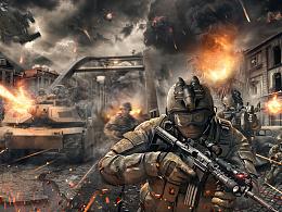 现代战争海报合成练习