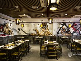 珠海涂鸦 【雾点原创涂鸦】珠海聚义堂火锅餐厅