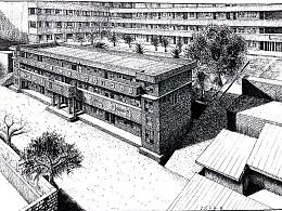 钢钢笔画(建筑集集合