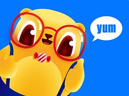 【大眼熊博士】熊博士卡通形象设计