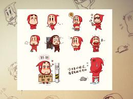 小红帽卡通表情