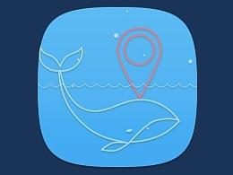 海洋主题图标_地图定位