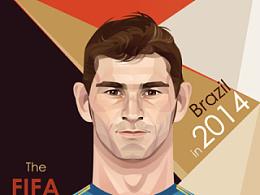 2014巴西世界杯球星插画第三弹(网易球星卡)