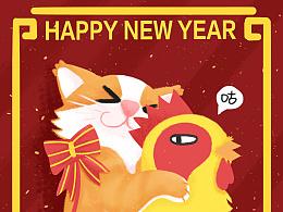 猫猫鸡~新年快乐~
