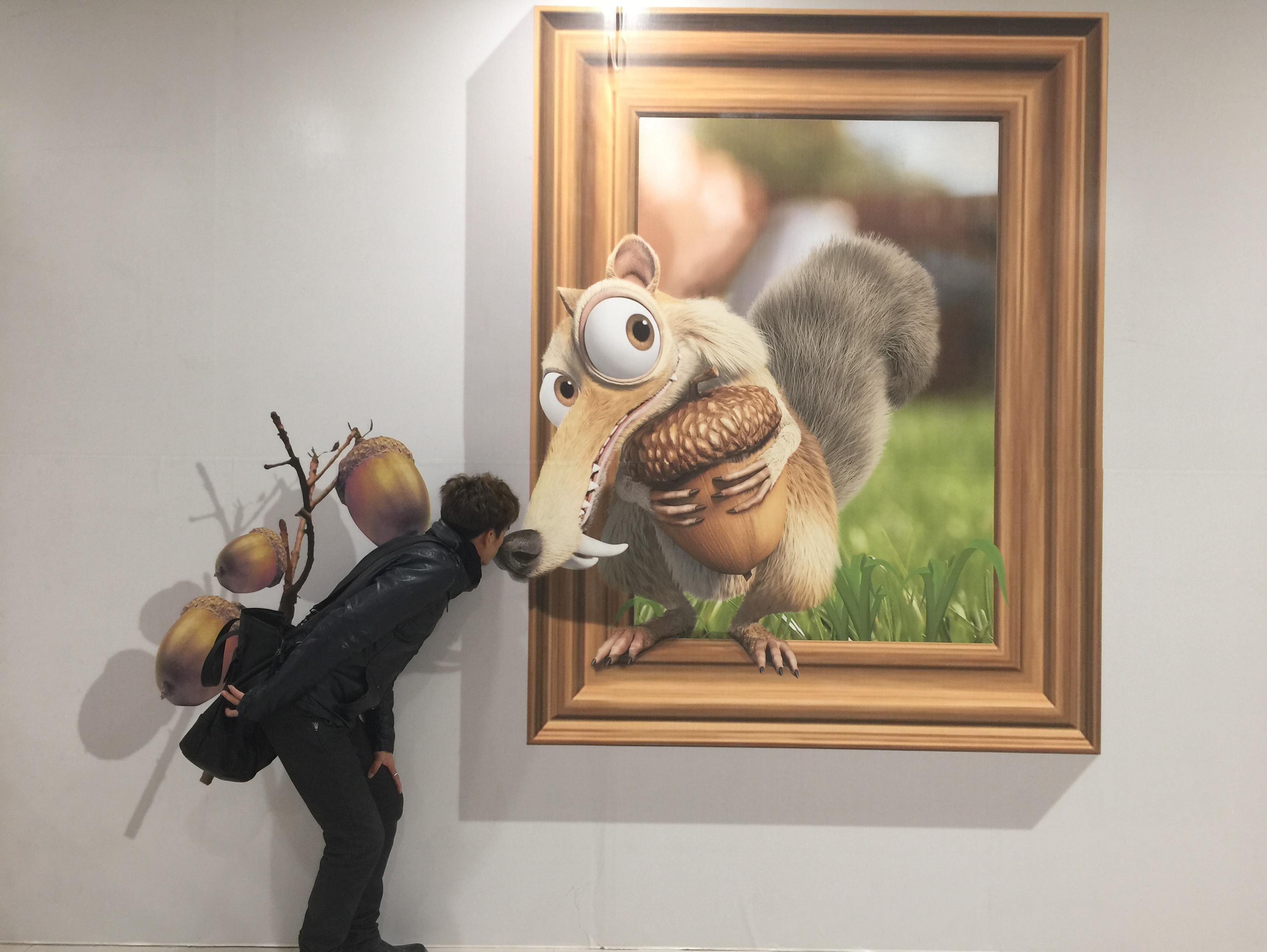 北京纯手绘3d立体画作品展示
