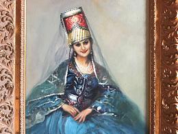 油画作品《塔吉克少女》