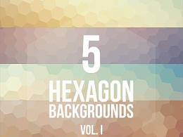 背景素材 5 Hexagon Backgrounds Vol. I