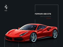 超写实鼠绘—Ferrari 488 GTB