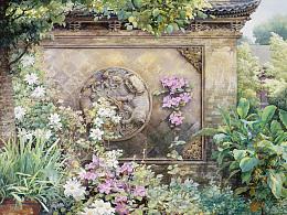 56张网上极少出现的北京胡同系列水彩作品集合