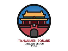 Day1- 每日设计 Tiananmen Design