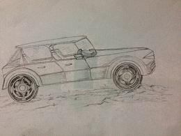 尝试做概念车外形