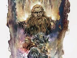 ◆孙睿《静默之神》.矮人王们.插画.步骤。 