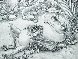 儿童故事插画,黑白图,封面,桥梁书