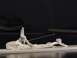 【吾心道场】 吾心禅境系列之暗香  线香插 陶瓷艺术香道空间摆件