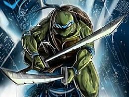 ~忍者神龟~练手第一次用手绘板画这样的插画~~还有好多要改进