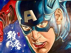电影工坊主题壁画-美国队长