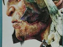 彩色圆珠笔作品《巨人将军》