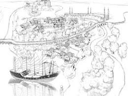 手绘地产项目规划全图