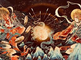 中国神祗——雷公电母的插画创作