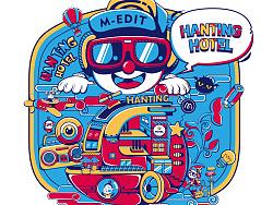 汉庭酒店·T恤潮图插画涂鸦设计