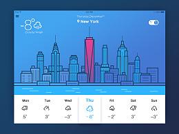 【100days 临摹】第4天 天气界面(weather)