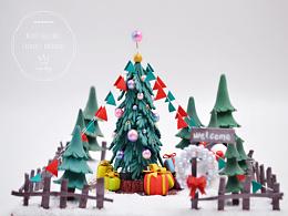 微缩圣诞小场景~可爱呐~