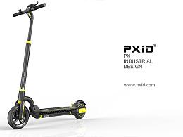 PXID 品向工业设计 电动滑板车设计 电动车设计 平衡车设计  体感车设计 飞神电动滑板车设计