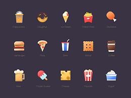 20个美式食物图标