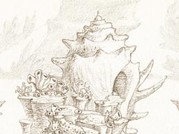 《幻灵童话》线稿2珊瑚岛