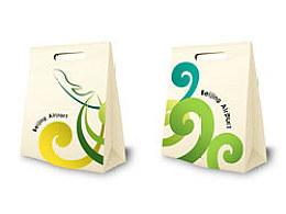 首都机场商业环保购物袋设计图